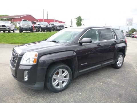 Carbon Black Metallic GMC Terrain SLE AWD.  Click to enlarge.