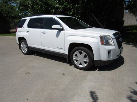 Olympic White GMC Terrain SLT.  Click to enlarge.