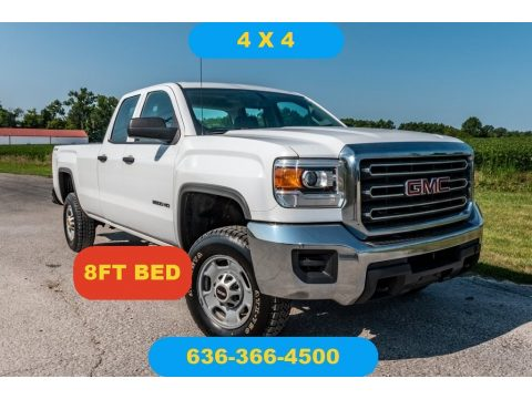 Summit White GMC Sierra 2500HD Double Cab 4x4.  Click to enlarge.