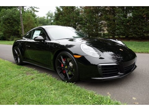 Black Porsche 911 Carrera 4S Coupe.  Click to enlarge.