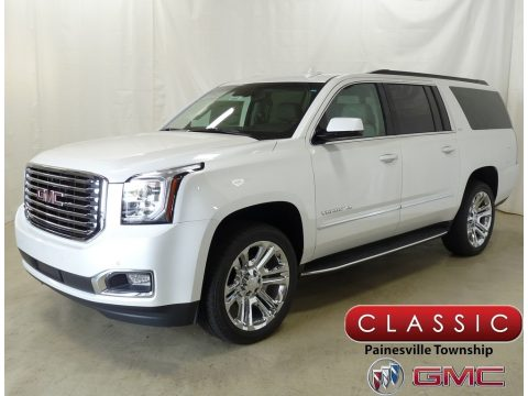 White Frost Tricoat GMC Yukon XL SLT 4WD.  Click to enlarge.