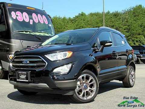 Shadow Black Ford EcoSport Titanium 4WD.  Click to enlarge.
