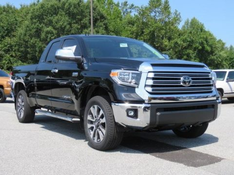 Midnight Black Metallic Toyota Tundra Limited Double Cab 4x4.  Click to enlarge.