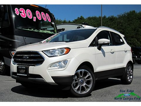 White Platinum Ford EcoSport Titanium.  Click to enlarge.
