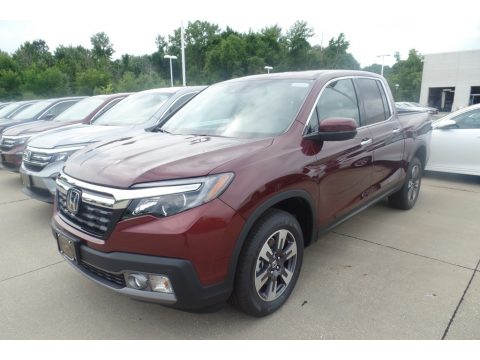 Deep Scarlet Pearl Honda Ridgeline RTL-E AWD.  Click to enlarge.