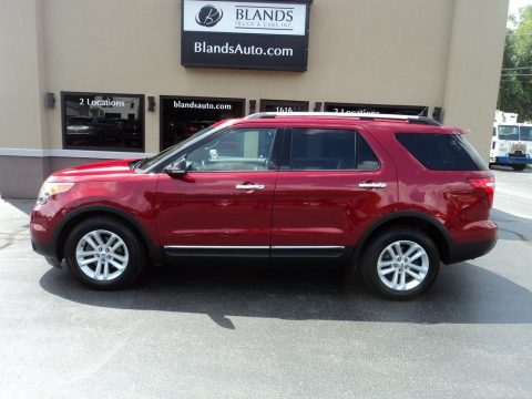 Ruby Red Metallic Ford Explorer XLT.  Click to enlarge.