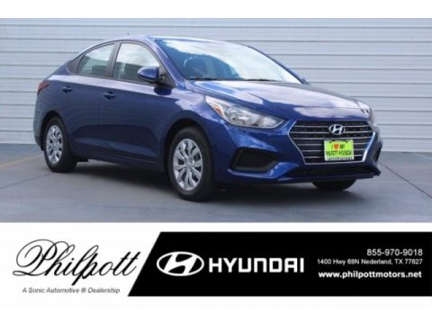 Admiral Blue Pearl Hyundai Accent Limited.  Click to enlarge.