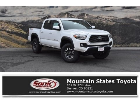 Super White Toyota Tacoma TRD Off Road Double Cab 4x4.  Click to enlarge.