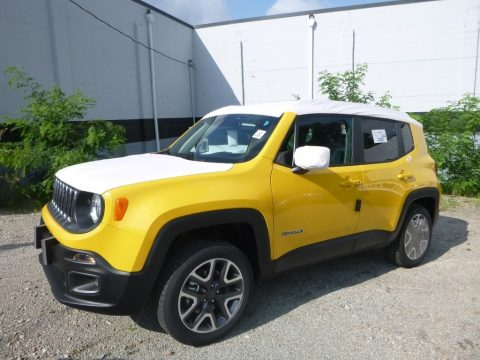 Solar Yellow Jeep Renegade Latitude 4x4.  Click to enlarge.