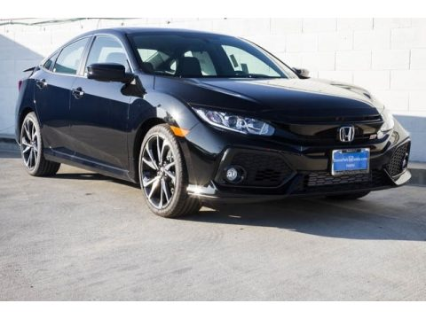 Crystal Black Pearl Honda Civic Si Sedan.  Click to enlarge.