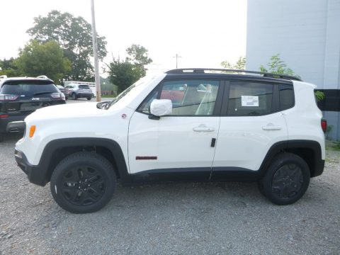 Alpine White Jeep Renegade Trailhawk 4x4.  Click to enlarge.