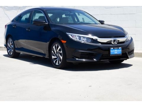 Crystal Black Pearl Honda Civic EX Sedan.  Click to enlarge.