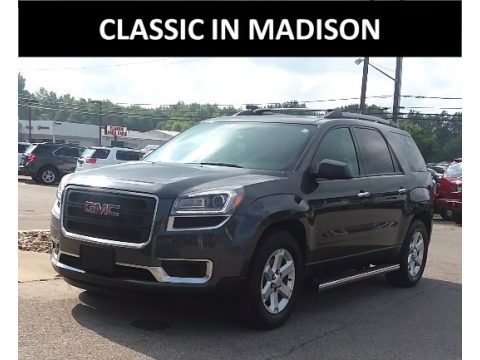 Cyber Gray Metallic GMC Acadia SLE AWD.  Click to enlarge.