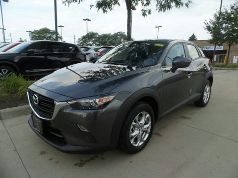 Machine Gray Metallic Mazda CX-3 Sport AWD.  Click to enlarge.