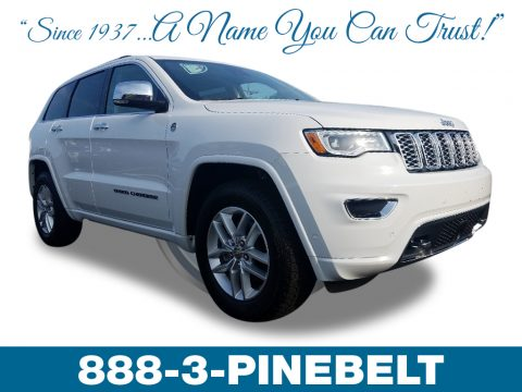 Bright White Jeep Grand Cherokee Overland 4x4.  Click to enlarge.
