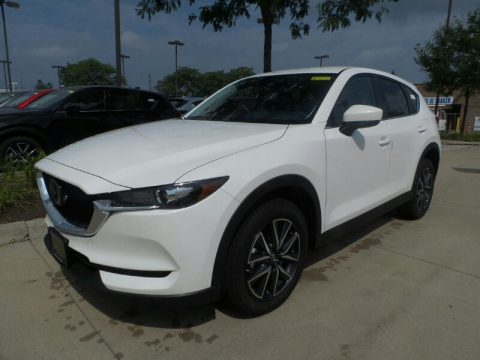 Snowflake White Pearl Mica Mazda CX-5 Touring AWD.  Click to enlarge.