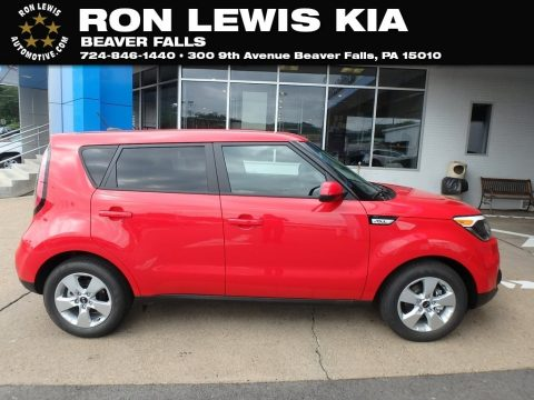 Inferno Red Kia Soul .  Click to enlarge.