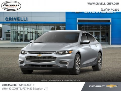 Silver Ice Metallic Chevrolet Malibu LT.  Click to enlarge.