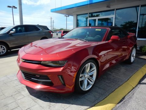 Garnet Red Tintcoat Chevrolet Camaro LT Convertible.  Click to enlarge.