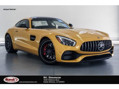 AMG Sunbeam Yellow Mercedes-Benz AMG GT C Coupe.  Click to enlarge.