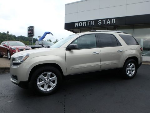 Champagne Silver Metallic GMC Acadia SLE AWD.  Click to enlarge.