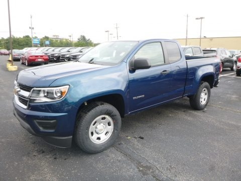 Pacific Blue Metallic Chevrolet Colorado WT Extended Cab 4x4.  Click to enlarge.