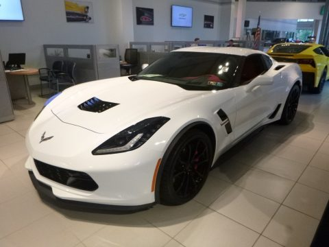 Arctic White Chevrolet Corvette Grand Sport Coupe.  Click to enlarge.