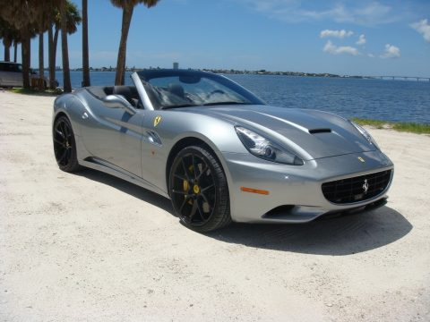 Grigio Silverstone (Dark Grey Metallic) Ferrari California .  Click to enlarge.