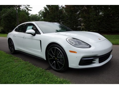 White Porsche Panamera 4S.  Click to enlarge.
