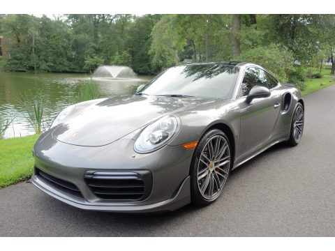 Agate Grey Metallic Porsche 911 Turbo Coupe.  Click to enlarge.