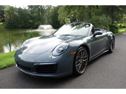 Graphite Blue Metallic Porsche 911 Carrera 4S Cabriolet.  Click to enlarge.