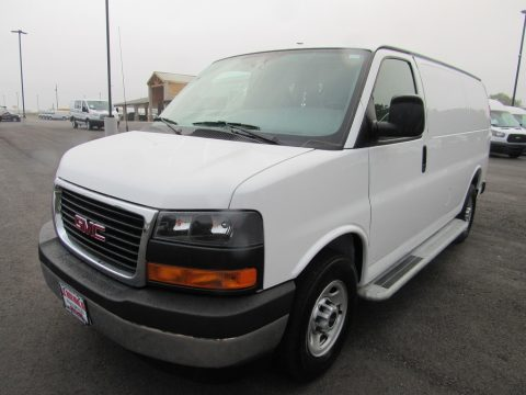 Summit White GMC Savana Van 2500 Cargo.  Click to enlarge.