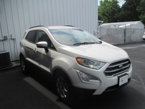 White Platinum Ford EcoSport SE.  Click to enlarge.