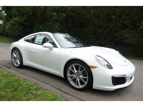 White Porsche 911 Carrera Coupe.  Click to enlarge.