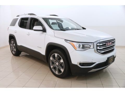 White Frost Tricoat GMC Acadia SLT AWD.  Click to enlarge.