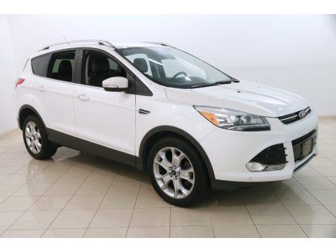 White Platinum Ford Escape Titanium 2.0L EcoBoost.  Click to enlarge.