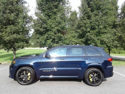 True Blue Pearl Jeep Grand Cherokee Trackhawk 4x4.  Click to enlarge.