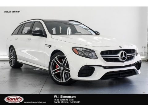 Polar White Mercedes-Benz E AMG 63 S 4Matic Wagon.  Click to enlarge.