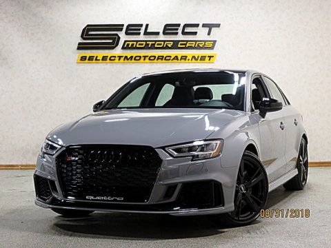 Nardo Gray Audi RS 3 quattro Sedan.  Click to enlarge.