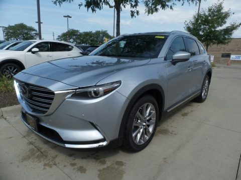 Sonic Silver Metallic Mazda CX-9 Grand Touring AWD.  Click to enlarge.