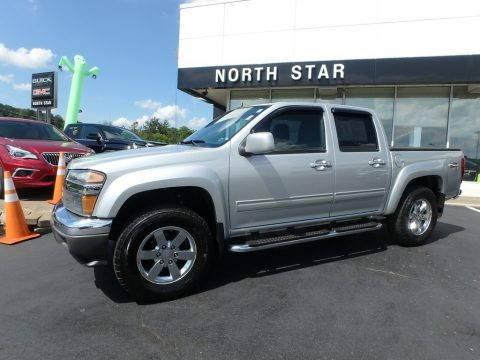 Pure Silver Metallic GMC Canyon SLE Crew Cab 4x4.  Click to enlarge.