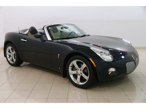 Deep Blue Pontiac Solstice Roadster.  Click to enlarge.