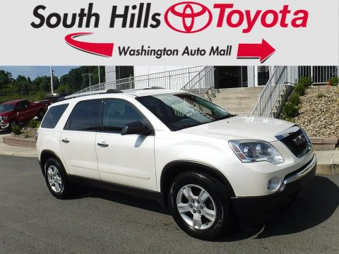 White Diamond Tricoat GMC Acadia SLE AWD.  Click to enlarge.