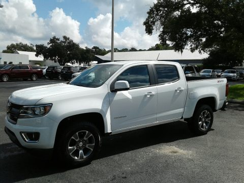 Summit White Chevrolet Colorado Z71 Crew Cab 4x4.  Click to enlarge.