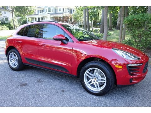 Carmine Red Porsche Macan .  Click to enlarge.