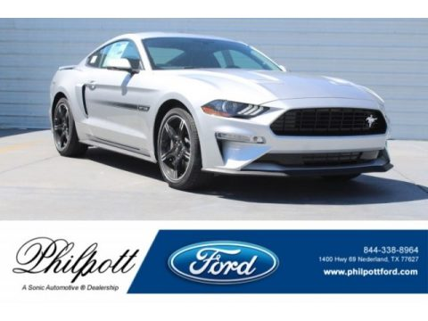 Ingot Silver Ford Mustang California Special Fastback.  Click to enlarge.