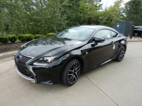 Obsidian Lexus RC 350 F Sport AWD.  Click to enlarge.