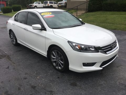 White Orchid Pearl Honda Accord Sport Sedan.  Click to enlarge.