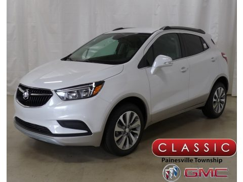 White Frost Tricoat Buick Encore Preferred AWD.  Click to enlarge.
