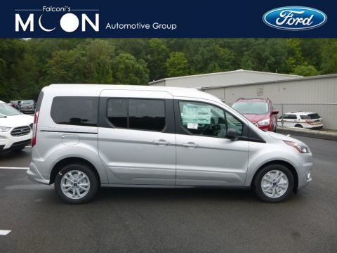 Ingot Silver Ford Transit Connect XLT Passenger Wagon.  Click to enlarge.